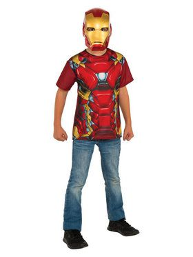 Boy's Iron Man Kid's Costume Top