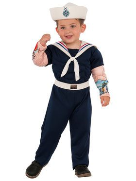 Muscle Man Sailor Costume For Children