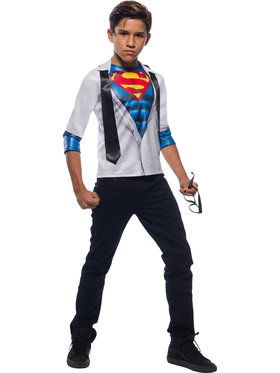Superman Photo Real Costume Top for Boys