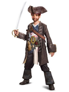 Potc5 Captain Jack Prestige Costume For Boys
