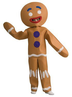 Boys Shrek Gingerbread Man Costume