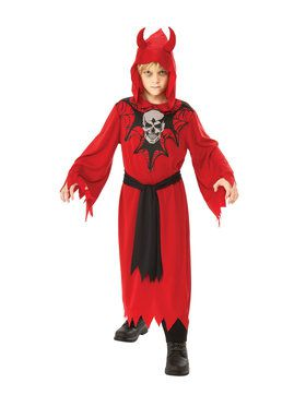 Skeleton Robe Costume for Boys