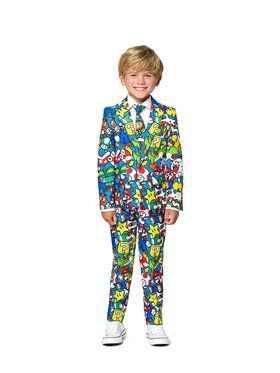 Opposuits Boys Super Mario Licensed Suit