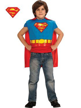 Boys Superman Classic Muscle Chest Shirt