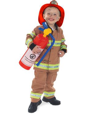 Tan Boys Firefighter Costume