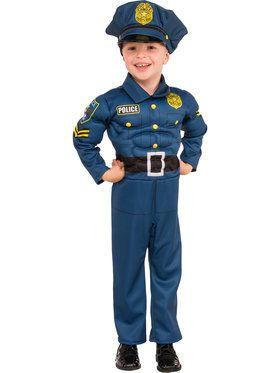 Top Cop Costume For Children