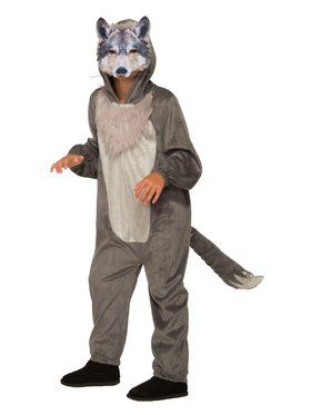 Wolf Jumpsuit With Mask Costume for Boys