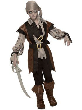 Zombie Pirate Costume for Boys