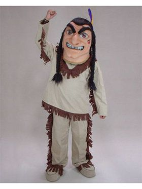 Brave Native American Mascot Adult's Mascot Costume