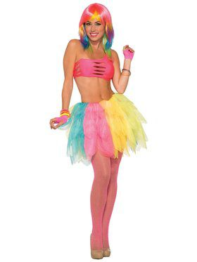 Bright Multicolor Tutu for Adults