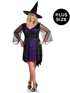 Plus Size Brilliantly Bewitched Costume For Adults