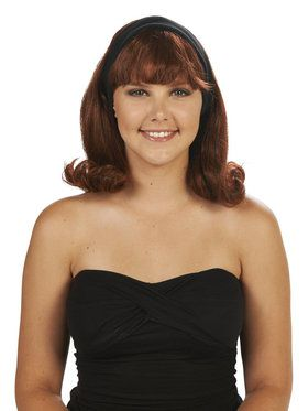 Brown 50's Flip Adult Wig for Halloween