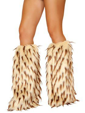 Brown and Camel Fur Leg Warmer