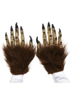 Brown Beast Latex Hands For Adults