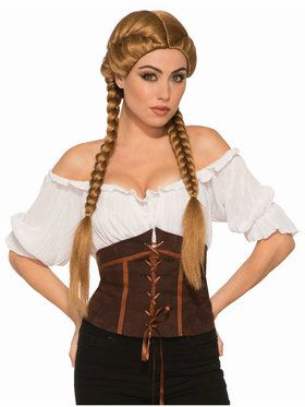 Brown Braided Wig Accessory