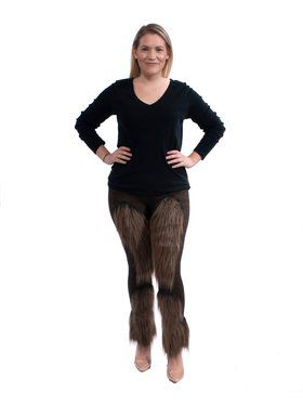 Cute Brown Fuzzy Leggings