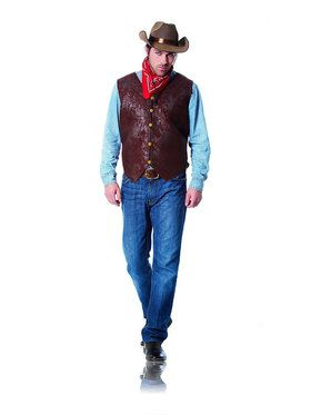 Brown Distressed Men's Vest