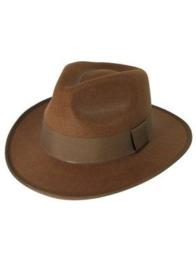 Brown Fedora Hat For Adults