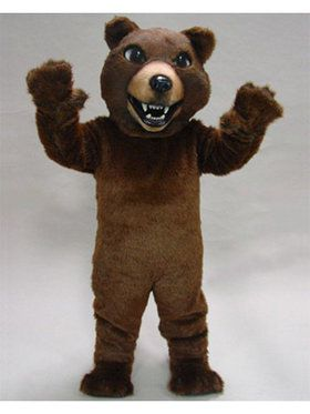 Brown Grizzly Bear Mascot Adult's Mascot Costume