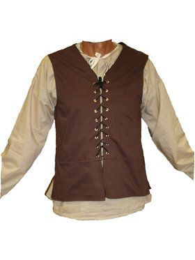 Brown Male Renaissance Vest Men's Costume