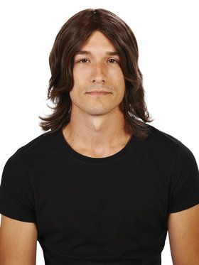Brown Surfer Wig For Adults
