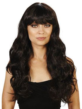 Brunette with Bangs Adult Wig for Halloween