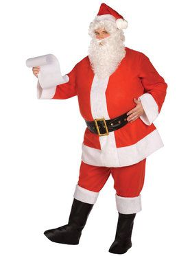 Budget Complete Santa Suit Costume For Adults