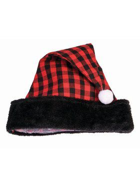 Buffalo Plaid Santa Hat Accessory