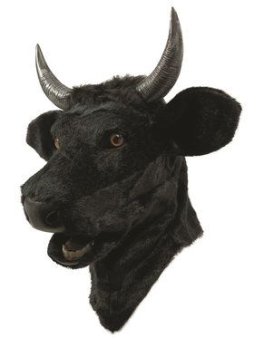 Bull Mask with Moving Mouth For Adults