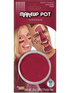 Burgundy Make Up Pot