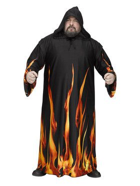 Plus Size SizeBurning Cloak for Plus For Adults