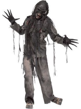 Burning Dead Charred Zombie Men's Costume