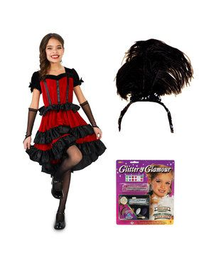 Can Can Dancer Child Costume Kit