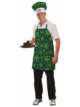 Cannabis Marijuana Hat and Apron Costume