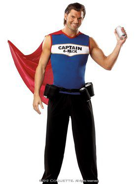 Captain 6 Pack Adult Costume