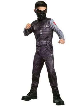 Captain America 2 Classic Winter Soldier Boy's Costume