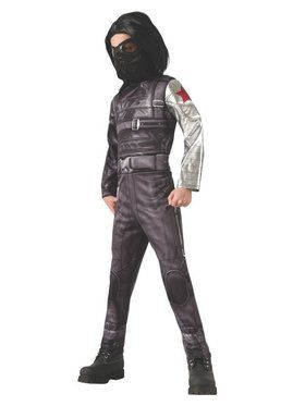 Deluxe Captain America Winter Soldier Costume for Boys