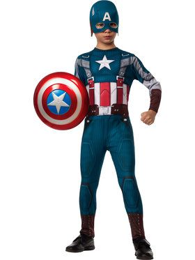 Captain America 2 Winter Soldier Retro Classic Boy's Costume