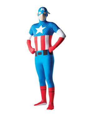Skin Suit Marvel Captain American Costume