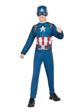 Captain America Child Jumpsuit & Mask Set