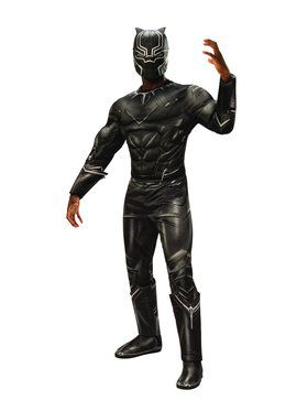 Captain America Civil War Deluxe Muscle Chest Black Panther Men's Costume