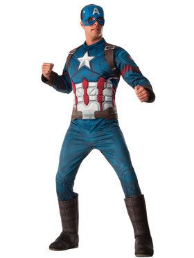Captain America Civil War Deluxe Muscle Chest Captain America Mens Costume