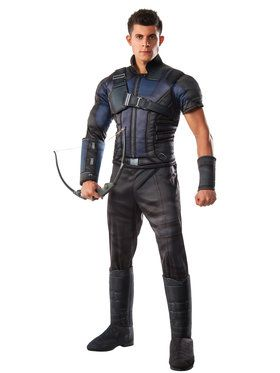 Captain America Civil War Deluxe Muscle Chest Hawkeye Men's Costume