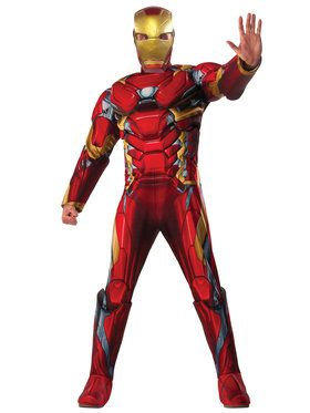 Captain America Civil War Deluxe Muscle Chest Iron Man Men's Costume
