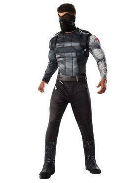 Captain America Civil War Deluxe Muscle Chest Winter Soldier Mens Costume