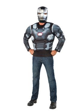 Captain America Civil War Muscle Chest War Machine Long Sleeve Top Men's Costume