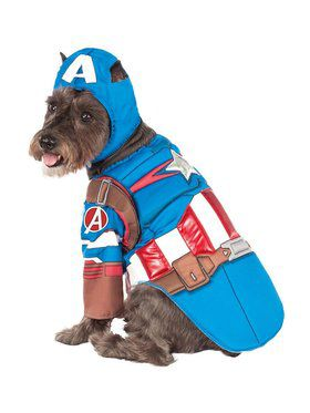 Captain America Costume Deluxe For Pets