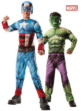 Captain America/Hulk 2-1 reversible Boy's Costume