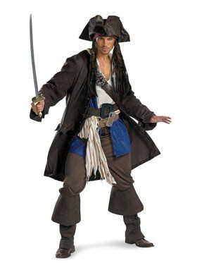 Captain Jack Sparrow Prestige Premium Adult Costume