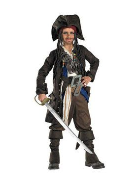 Captain Jack Sparrow Prestige Premium Child Costume